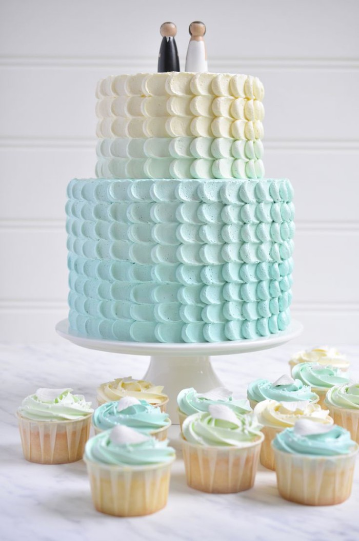 Wedding Cake Mini Avec Creme