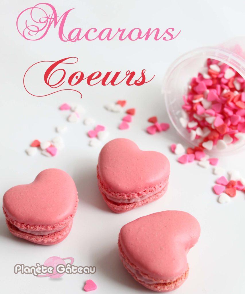 Blog Planete Gateaurecette De Macarons En Forme De Coeur Pour La