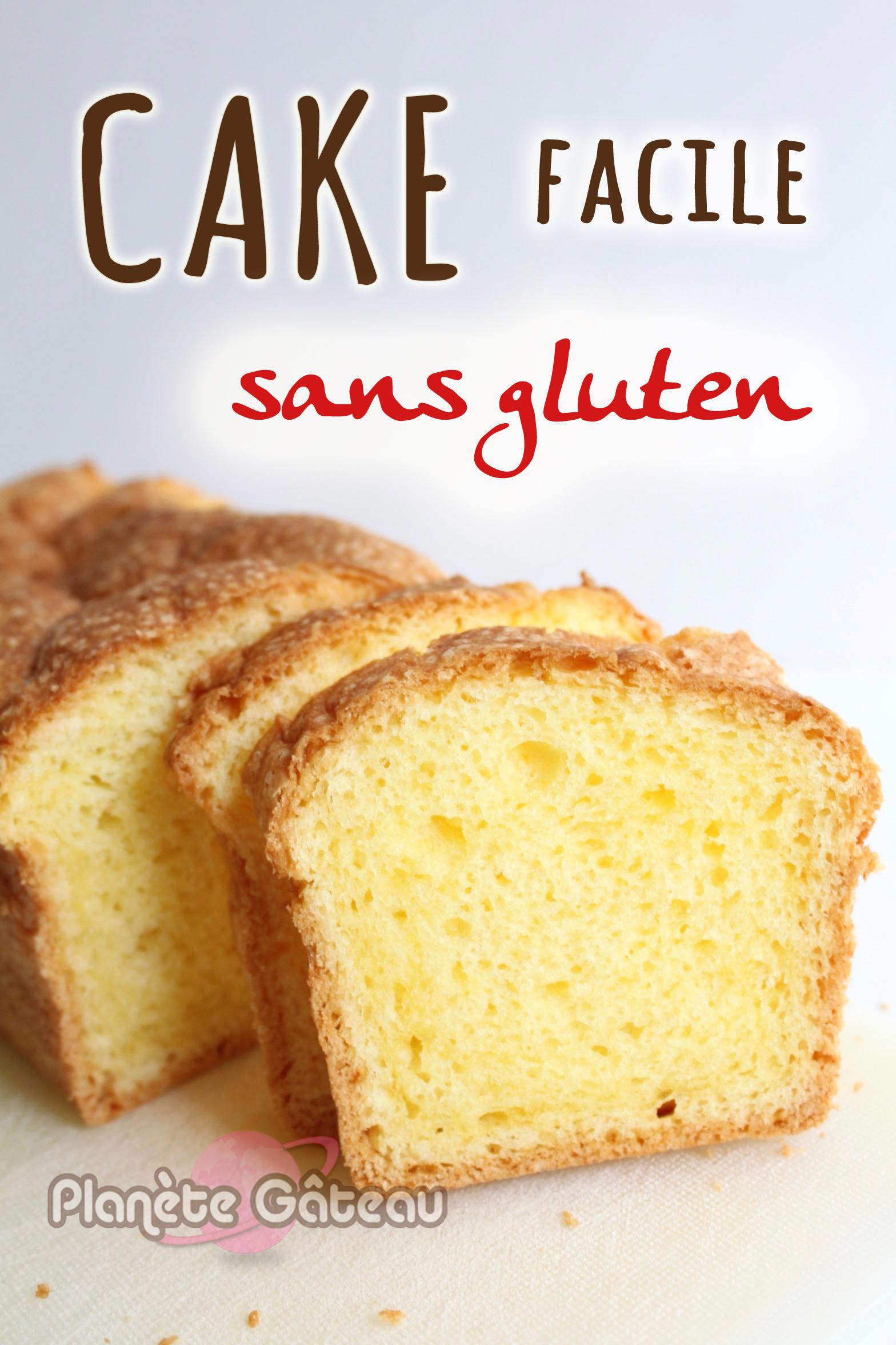 Cake facile sans gluten